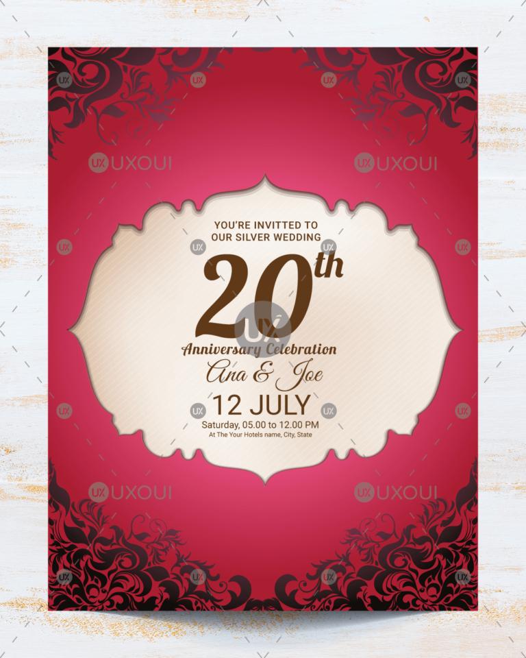 Wedding Anniversary Card Design Calep Midnightpig Co Within Word Anniversar Anniversary Invitations Wedding Anniversary Invitations Wedding Anniversary Cards