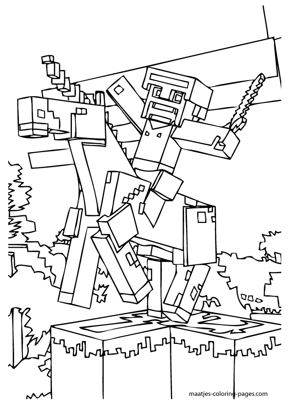 Printable Minecraft Coloring Pages Minecraft coloring Pinterest