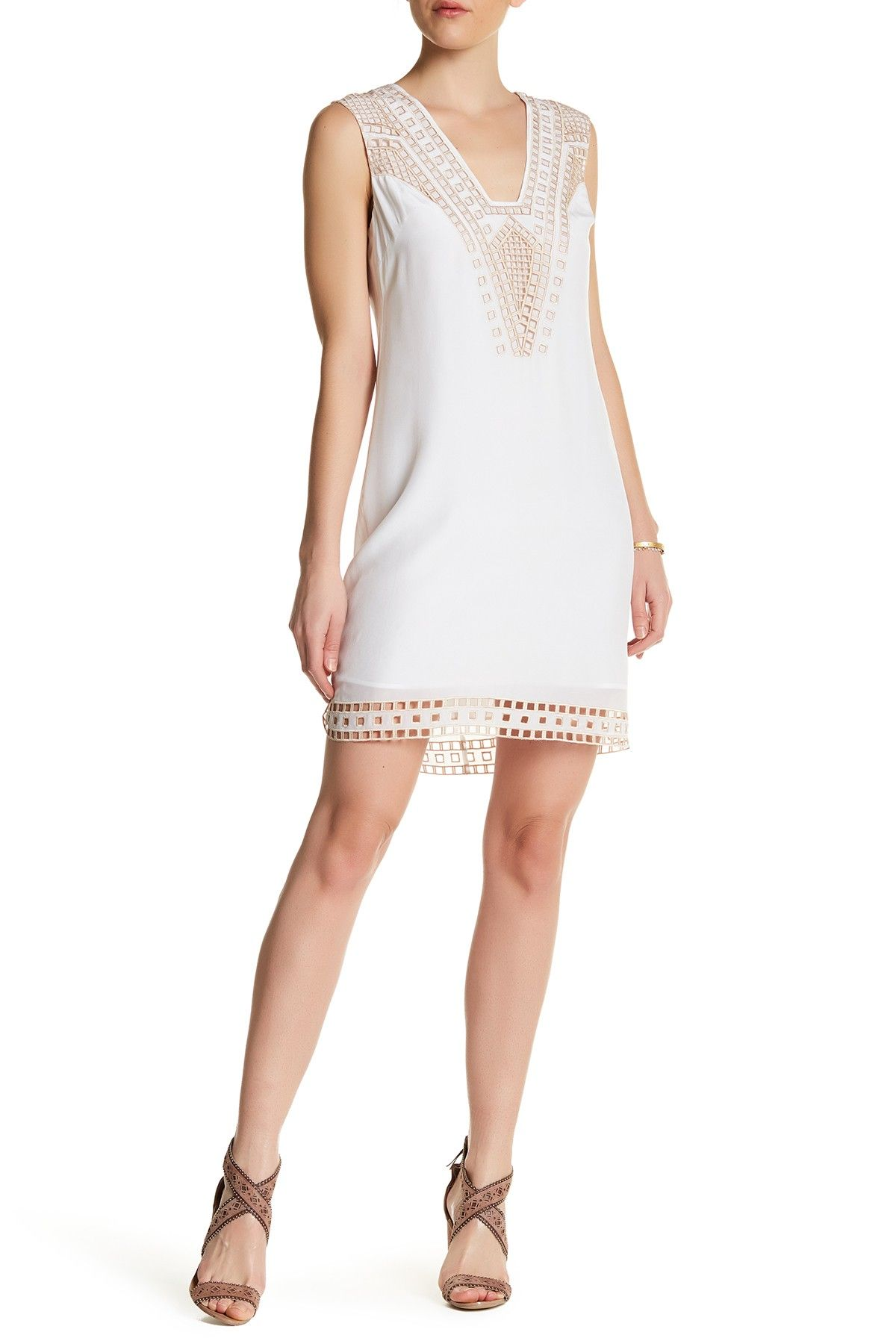 Embroidered Eyelet Silk Shift Dress by Ella Moss on  nordstrom rack ... b4e758875