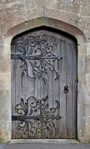 South Door St Mary S Church Meare Somerset These Doors Are Supported By Some Of The Finest Medieval Door Hinges Old Doors Medieval Door Beautiful Doors