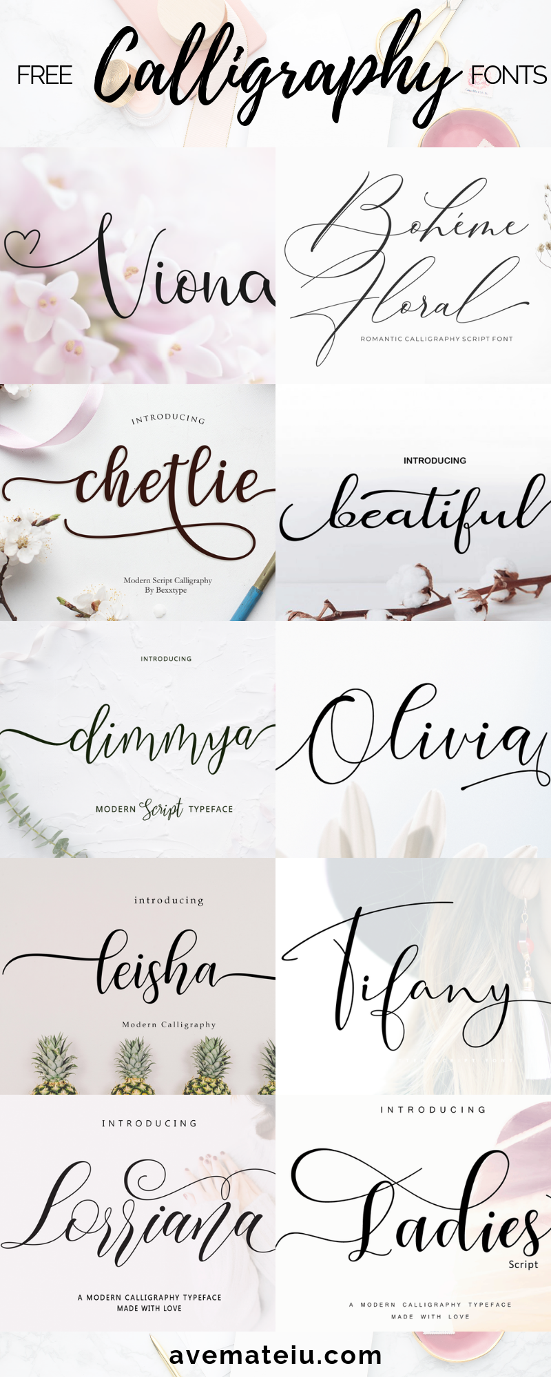 10 New Free Calligraphy Fonts Art Fonts And Calligraphy Typography Handwritten Fonts Alphab Tattoo Fonts Cursive Free Calligraphy Fonts Fancy Script Font