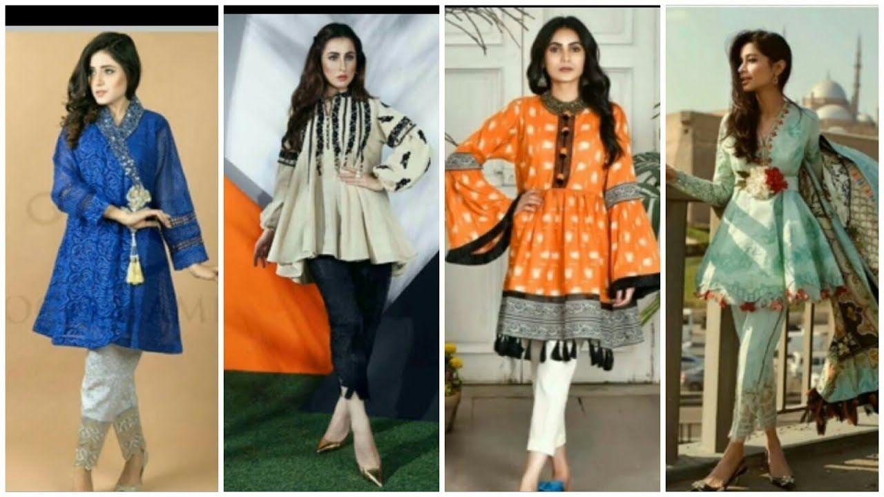 Latest Stylish Summer Kurti Kurta Frocks Style Shirts Designs 2018 Frock Design Dress Designs For Girls Pakistani Dress Design