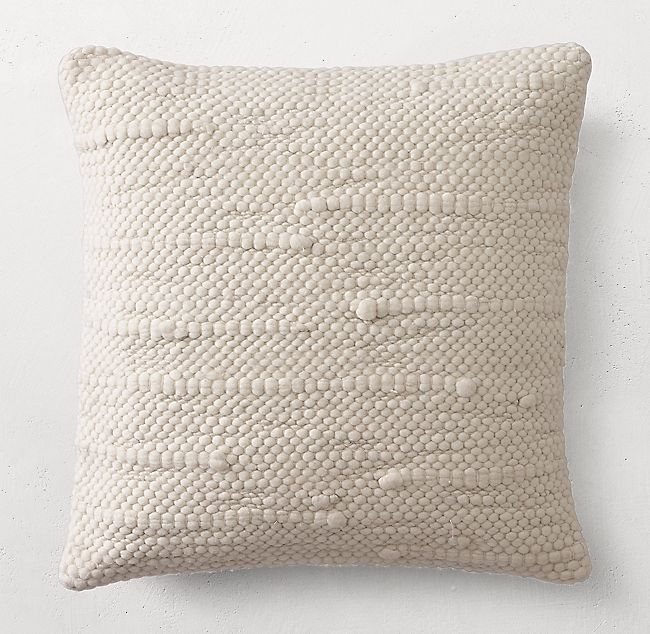 Textured Merino Wool Pillow Cover Square Wool Pillows