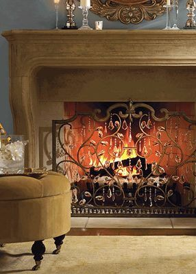 Louviere Fireplace Screen Fireplace Screens Elegant Interiors