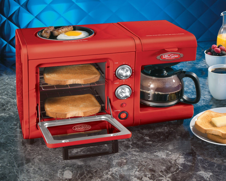 Nostalgia Electrics BSET100CR 3 in 1 Breakfast Station: Kitchen ...