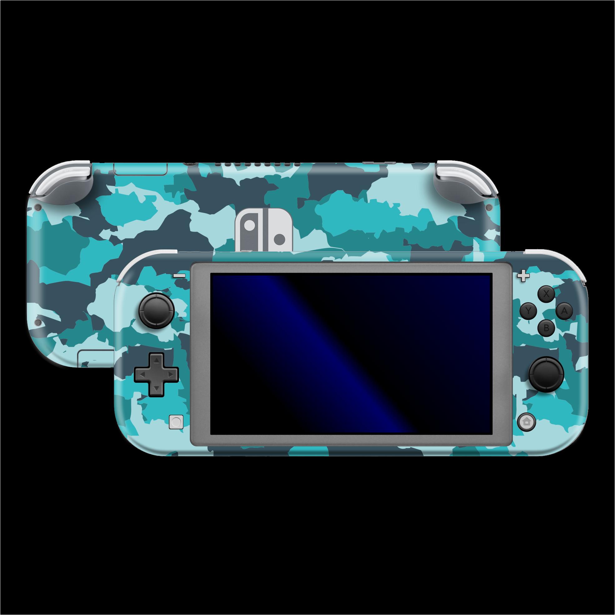Nintendo Switch Lite Signature Camouflage Turquoise Skin Nintendo Nintendo Switch Lite