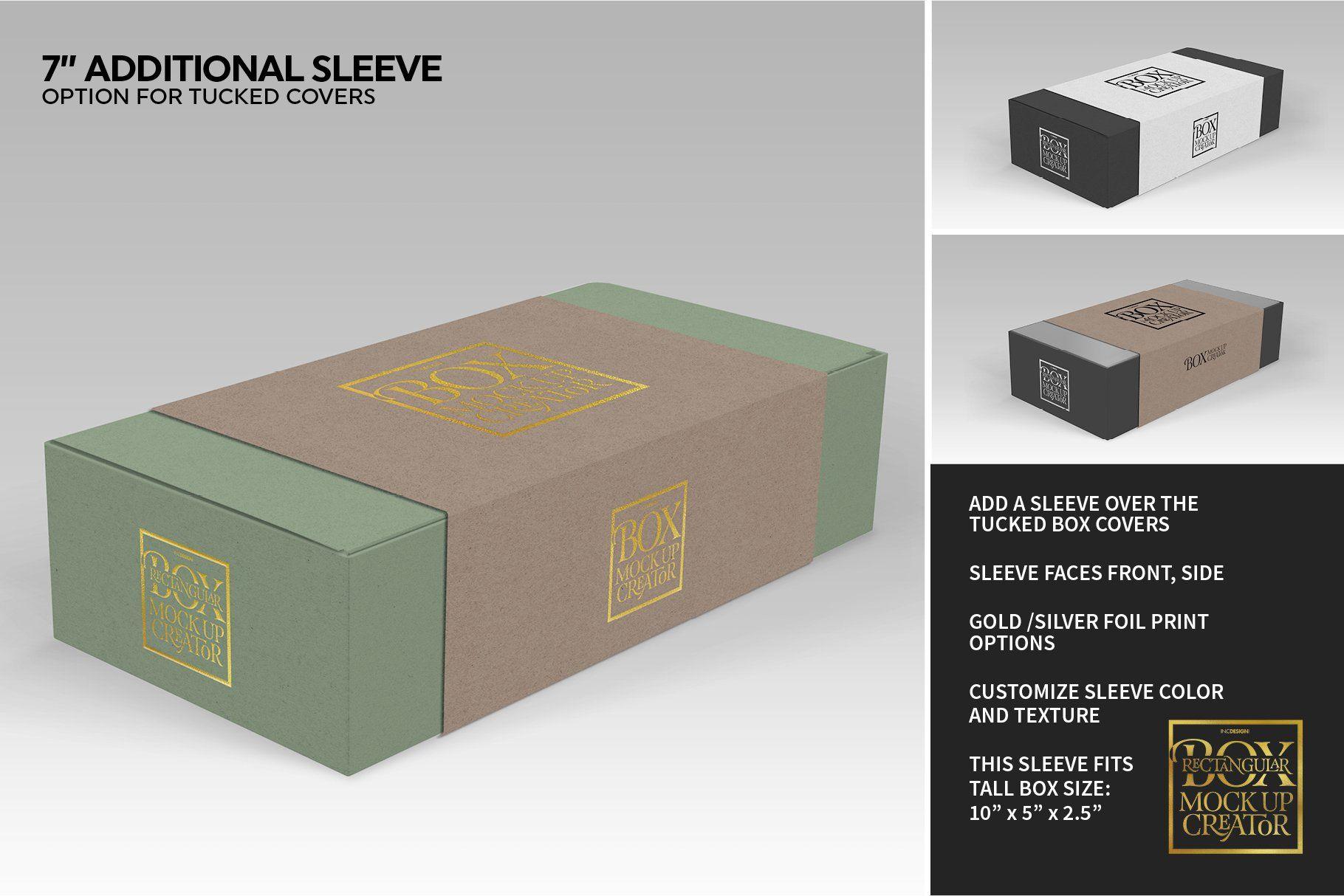 Rectangular Box Mock Up Creator Branding Template Mocking The Creator