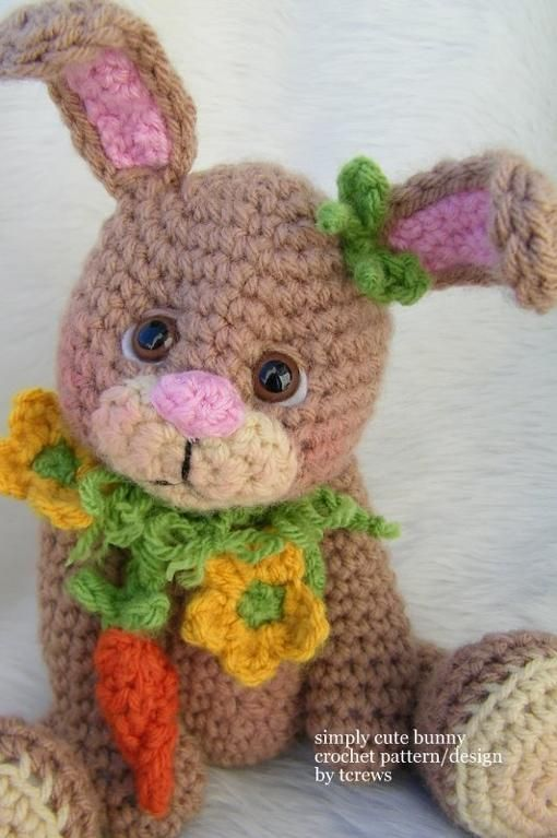 Bunny Simply Cute Crochet Pattern Pinterest Bunny Crochet And