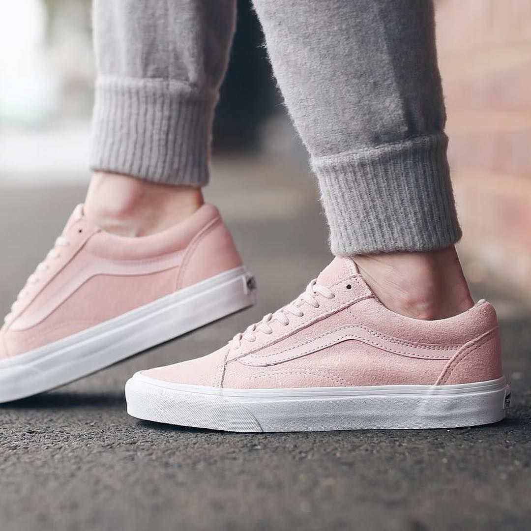 slip on vans womens pink