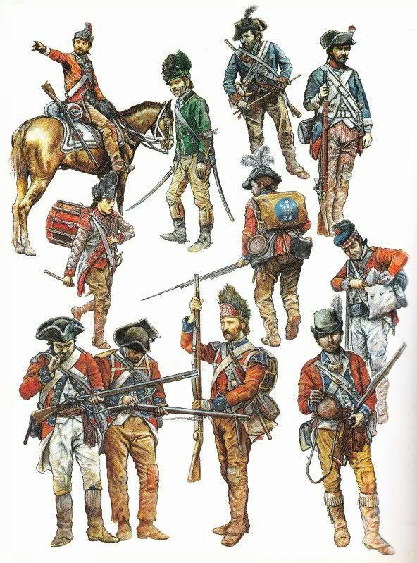 british army during the american revolution uniformi pinterest r volution am ricaine. Black Bedroom Furniture Sets. Home Design Ideas