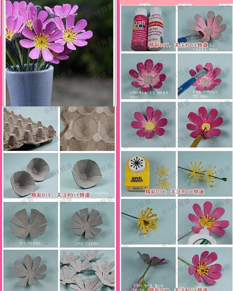 Handmade Kursy Wzory Tutoriale Kwiaty Z Papieru Recycled Art Handcraft Crafts For Kids