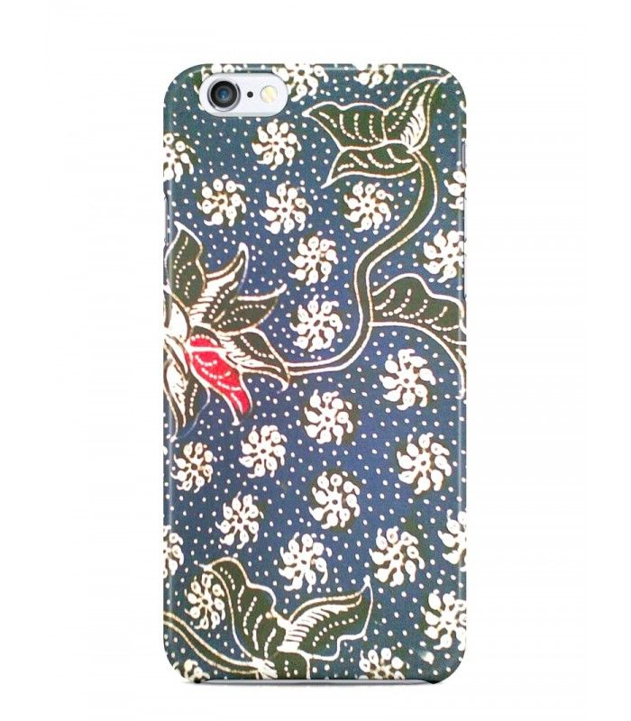 Red Pepper With Flower Background Batik 3D Iphone Case For