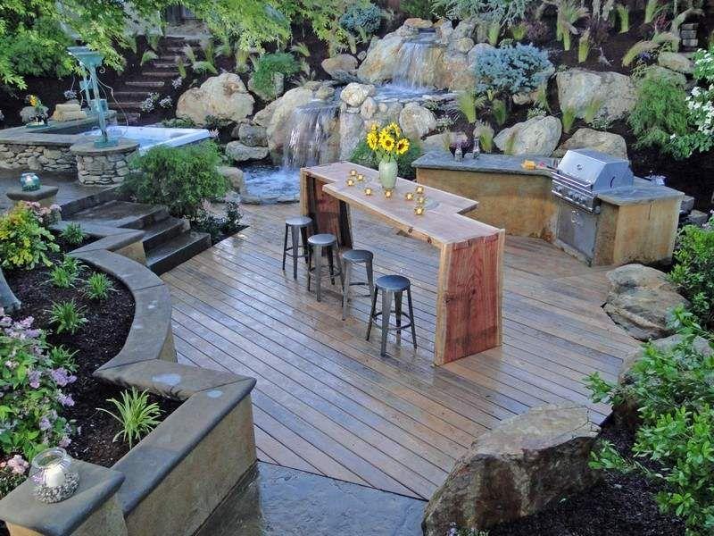 outdoor küche und essplatz im garten gestalten | garten, Hause und garten