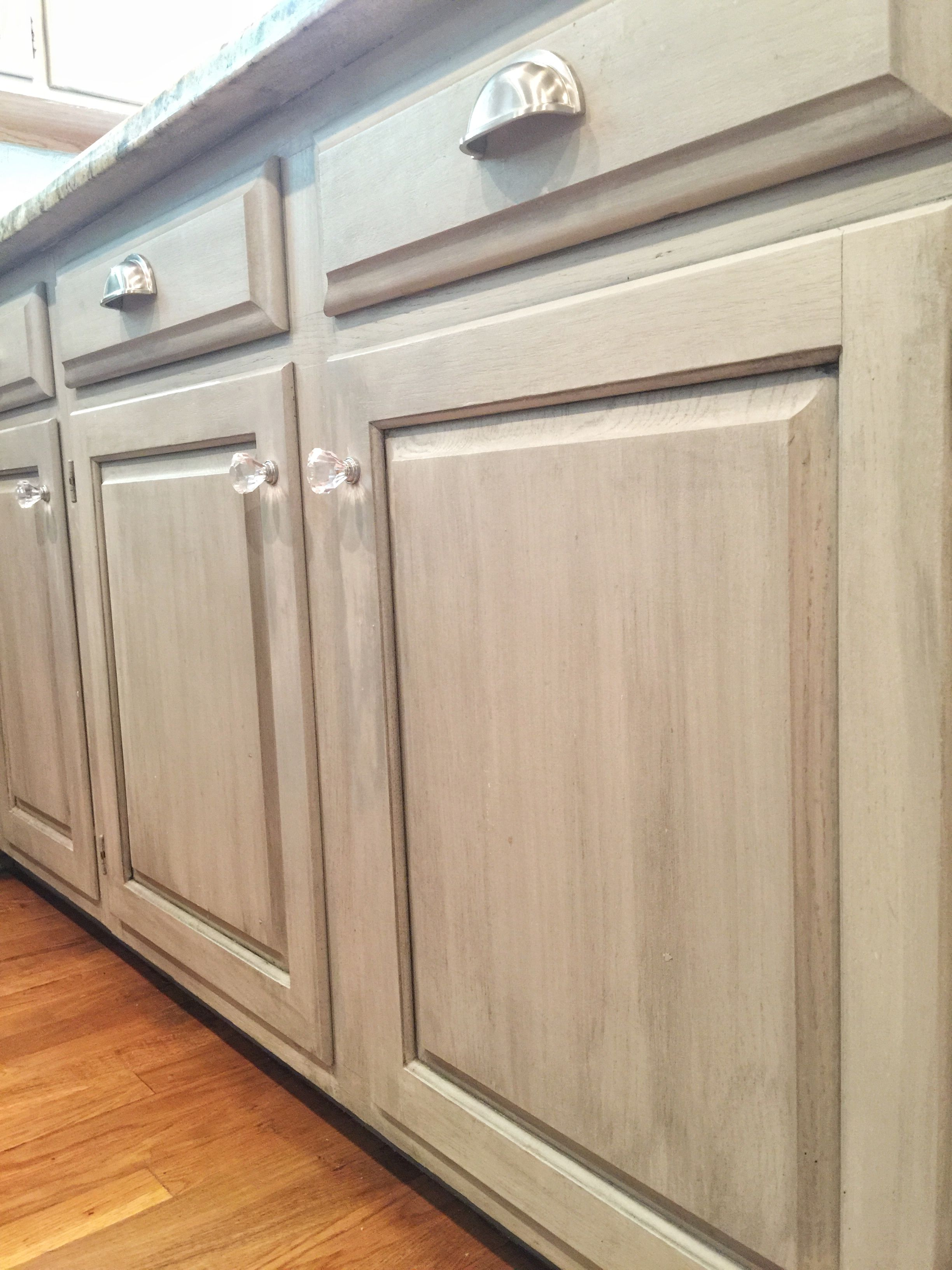 Pin By Laura Goodfellow On Diy Home Improvement Distressed Kitchen Cabinets Glazed Kitchen Cabinets Taupe Kitchen Cabinets