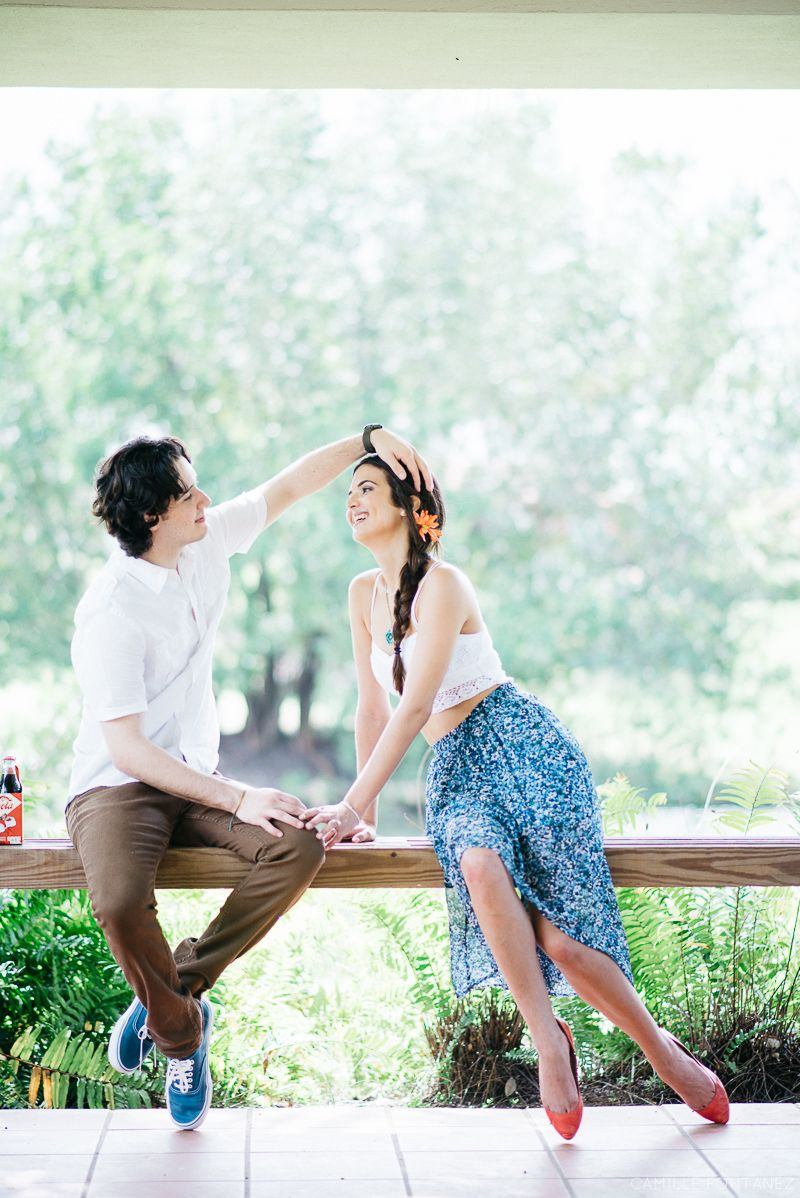Whimsical Vintage Picnic Engagement Session @ Dorado Beach East, Puerto Rico by Wedding Photographer Camille Fontanez  See more: http://bit.ly/Astrid-Alexis