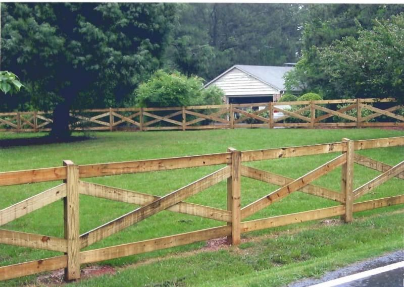 Ranch Style Wood Fence Designs Wood Fence Installation In