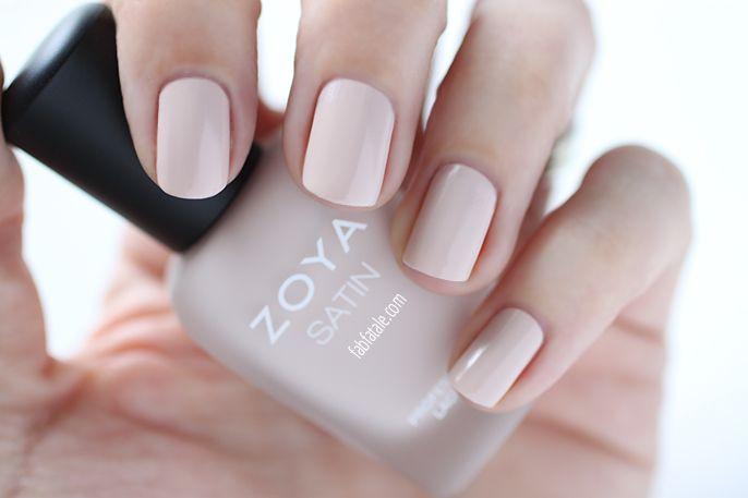 Zoya Naturel Satins Ana Swatch Light Pink Nail Polish For Spring 2017