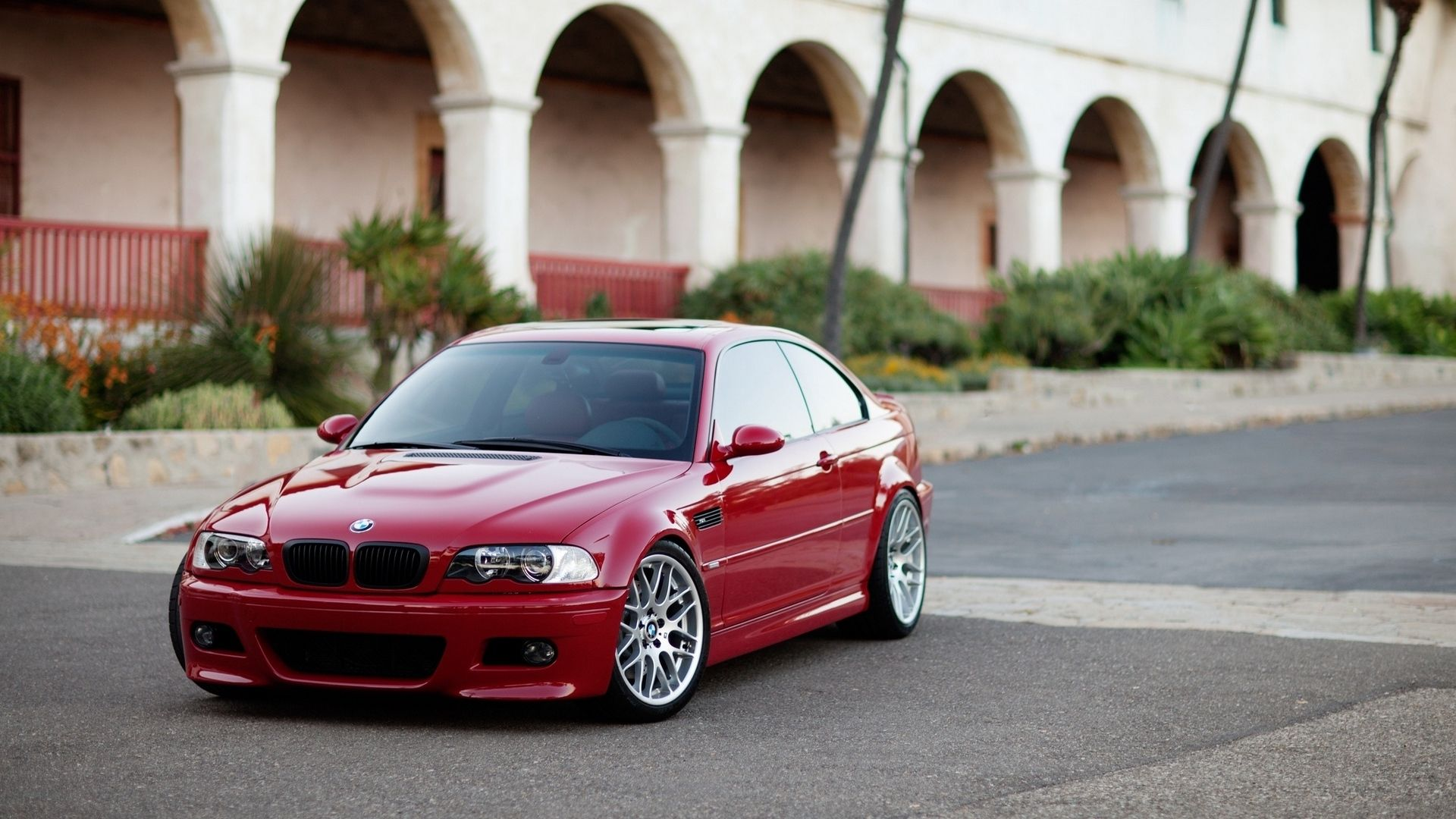 1920x1080 Wallpaper Building Coupe Red E46 Bmw M3 With
