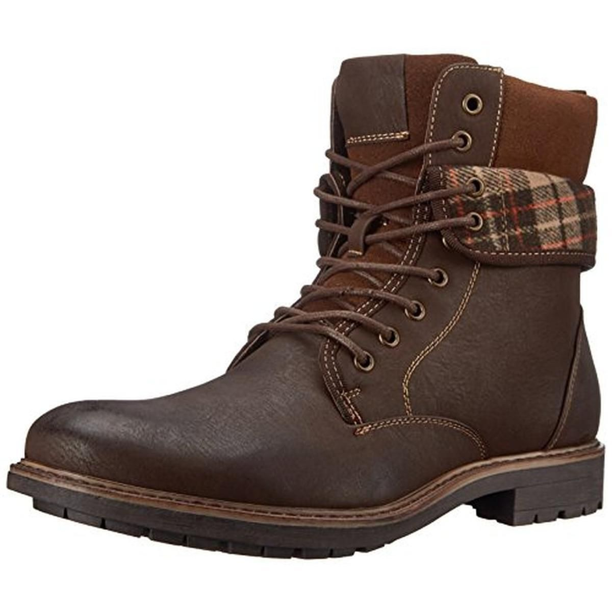 Madden 2034 Mens M-Neptun Brown Fold-Over Combat Boots Shoes 10 Medium (