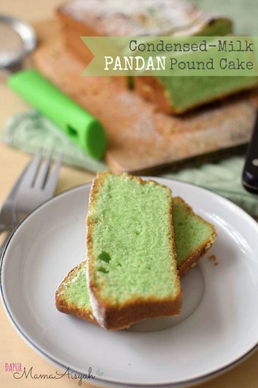 Http Dapurmamaaisyah Blogspot Be 2014 10 Condensed Milk Pandan Pound Cake Butter Html Pound Cake Yummy Comfort Food English Cakes