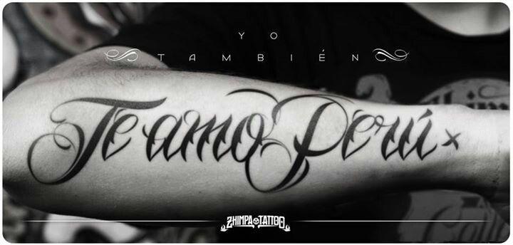 Te Amo Perú Tattoo Por Zhimpa Tinta Pinterest Tattoos Tatting