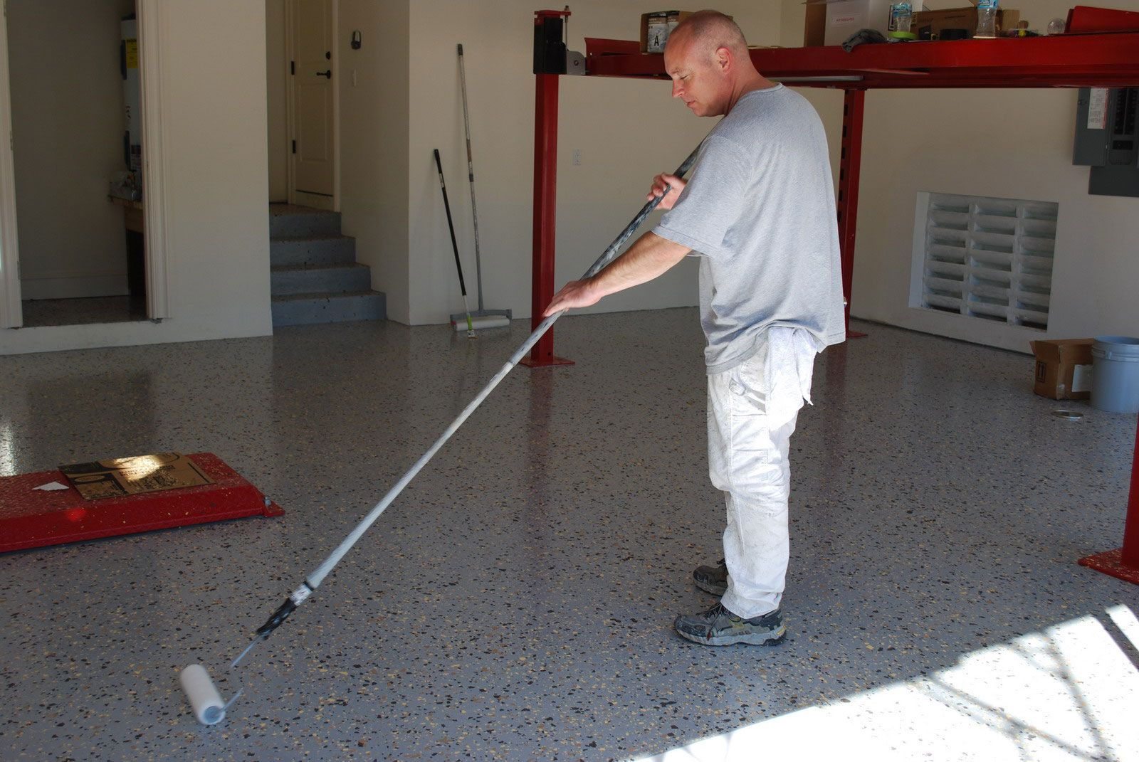 Ucoat it epoxy floor coating install photo 24 garage pinterest diy flooring solutioingenieria Image collections