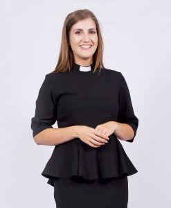 1e6383ac7d8 Knee Length Clergy Dress Black - House of ilona - Designer Clergy Dresses