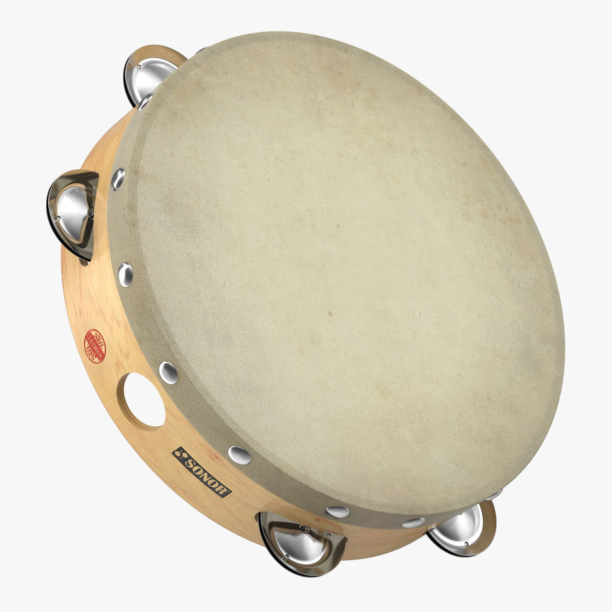3D Orchestral Tambourine - 3D Model