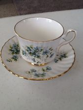 "Vintage Royal Stafford  England Bone China Tea Cup & Saucer ""Coquette""~Gold Rim~"