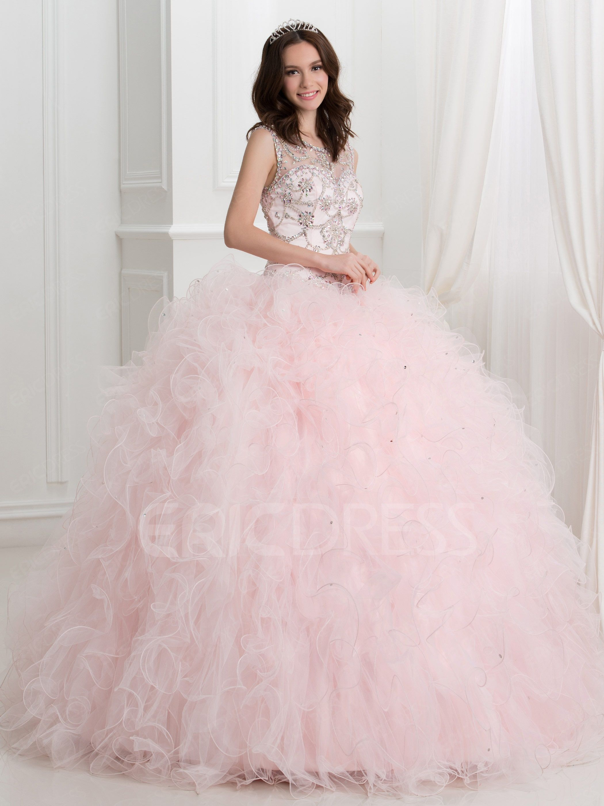 baf8ad97811a ericdress.com offers high quality Ericdress Jewel Neck Beading Open Back  Ball Gown Quinceanera Dress Quinceanera Dresses unit price of $ 188.31.
