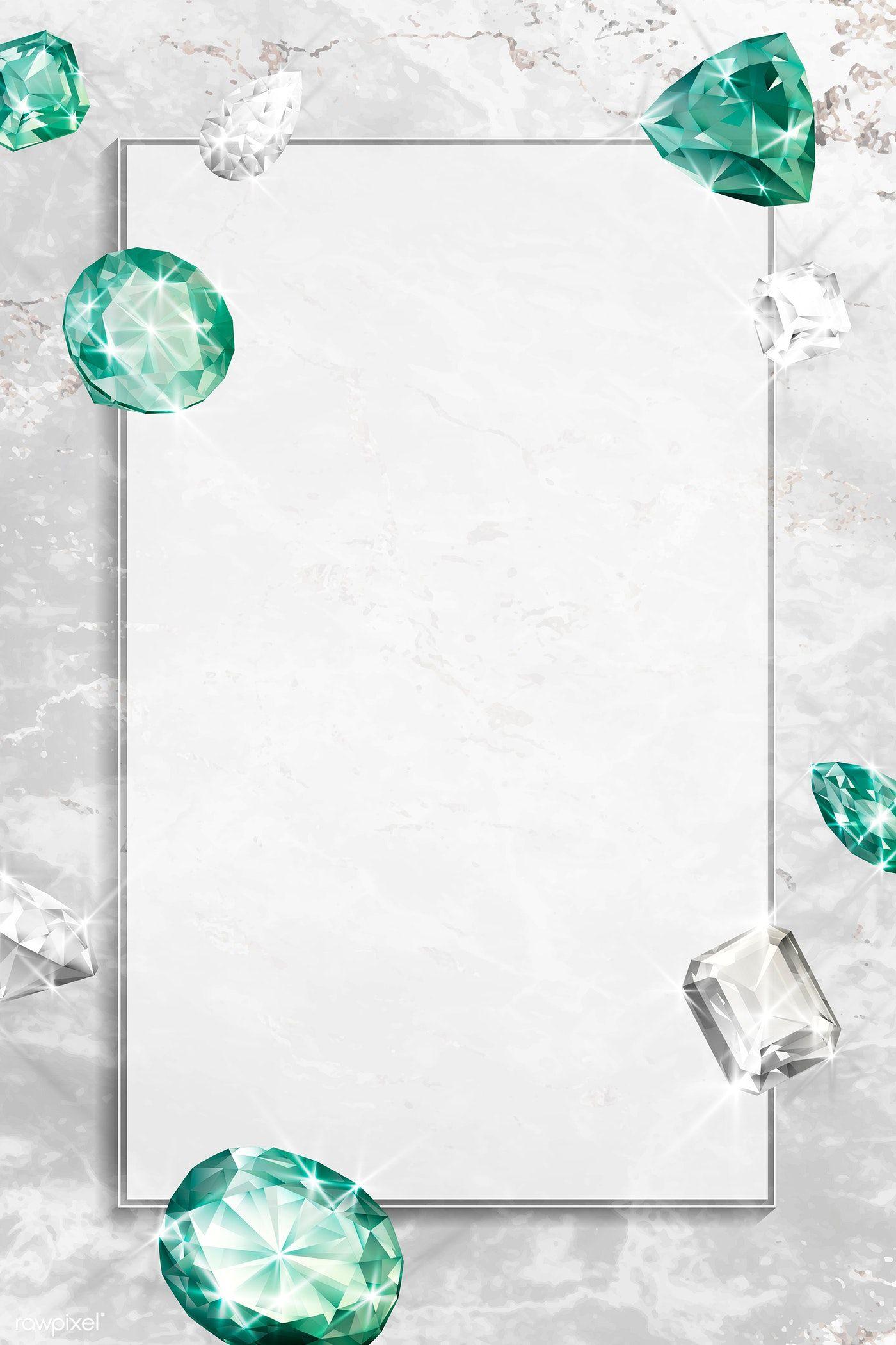 Download premium vector of Green crystal gem design vector