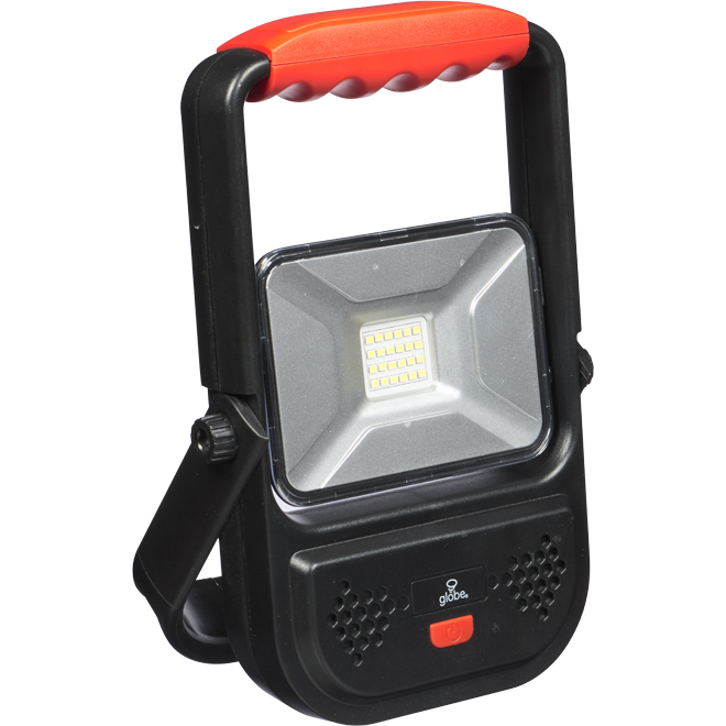 Globe Rechargeable Led Work Lamp 30w Blackred One