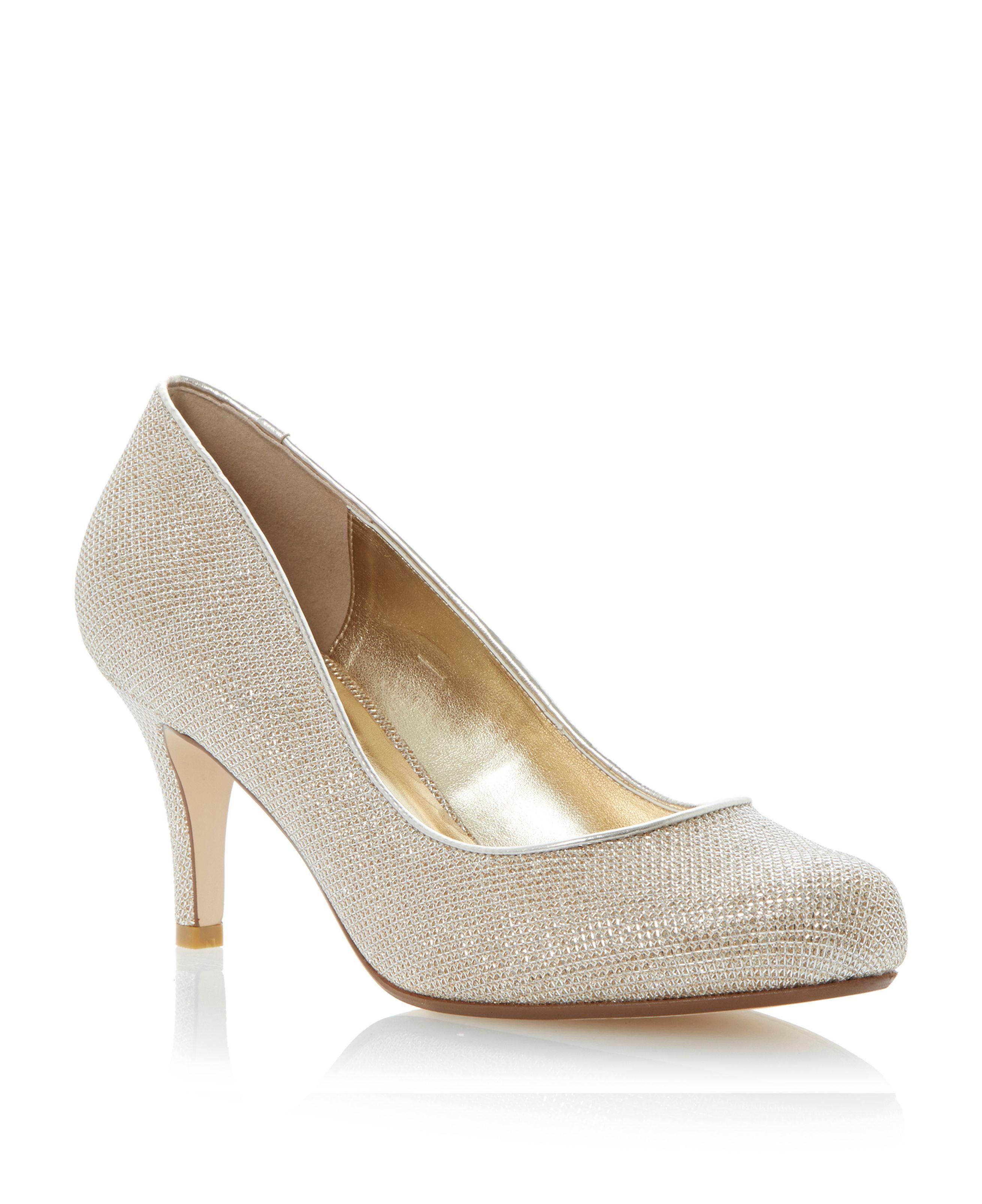 6c8a3ed7a042 Dune Amelia mid heel court shoes