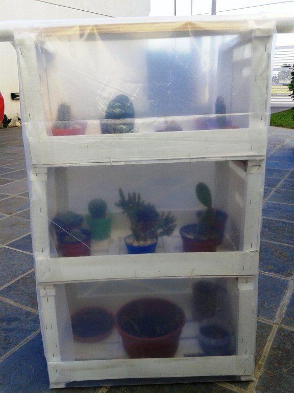 C mo hacer un mini invernadero por menos de 50 euros - Mini invernadero casero ...