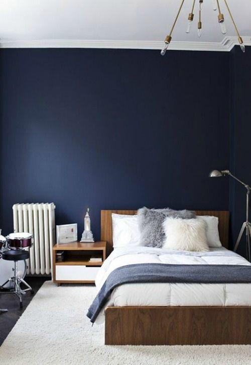 Azul Indigo O La Profundidad Del Color En Su Oscuridad Dormitorios Decoracion De Recamaras Modernas Remodelacion De Dormitorio
