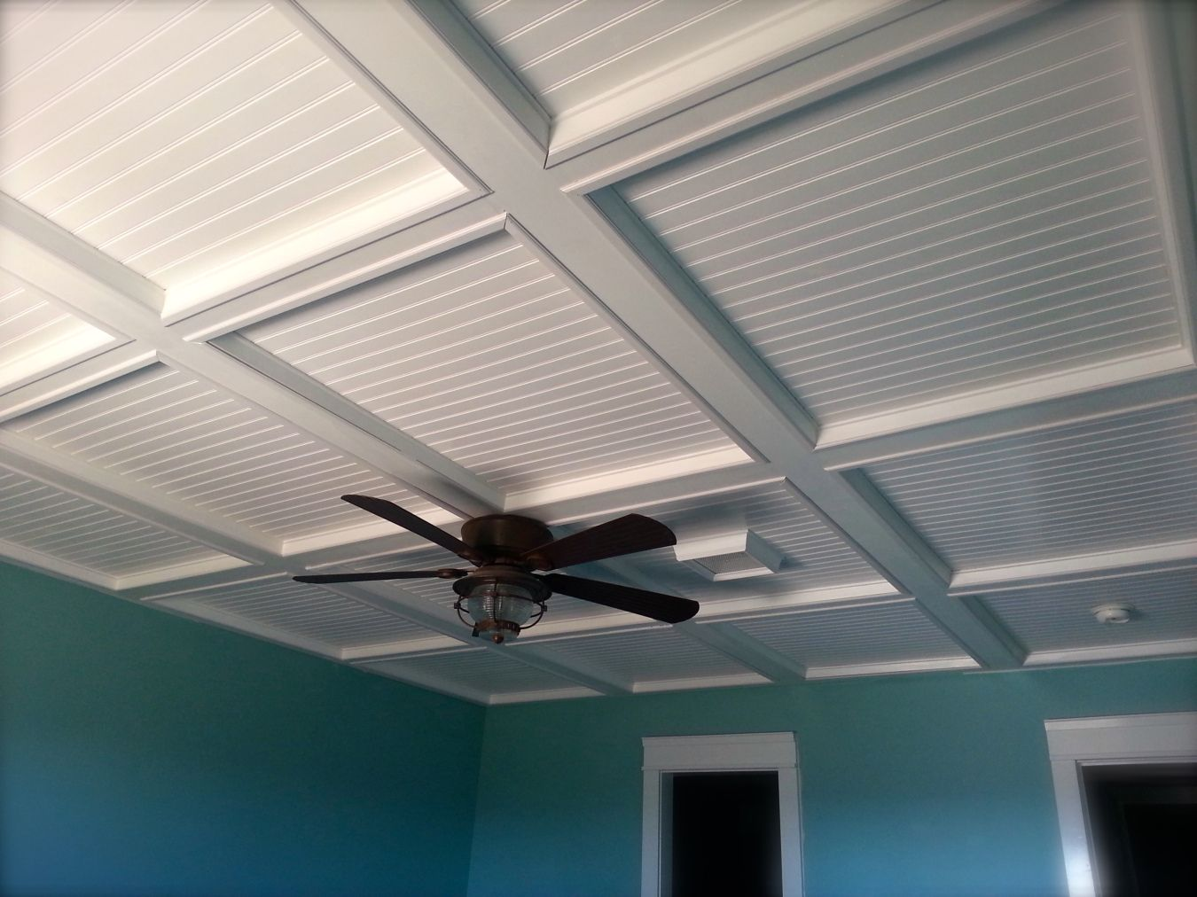 My DIY Suspended Ceiling Alternative. I'll Be Sharing On