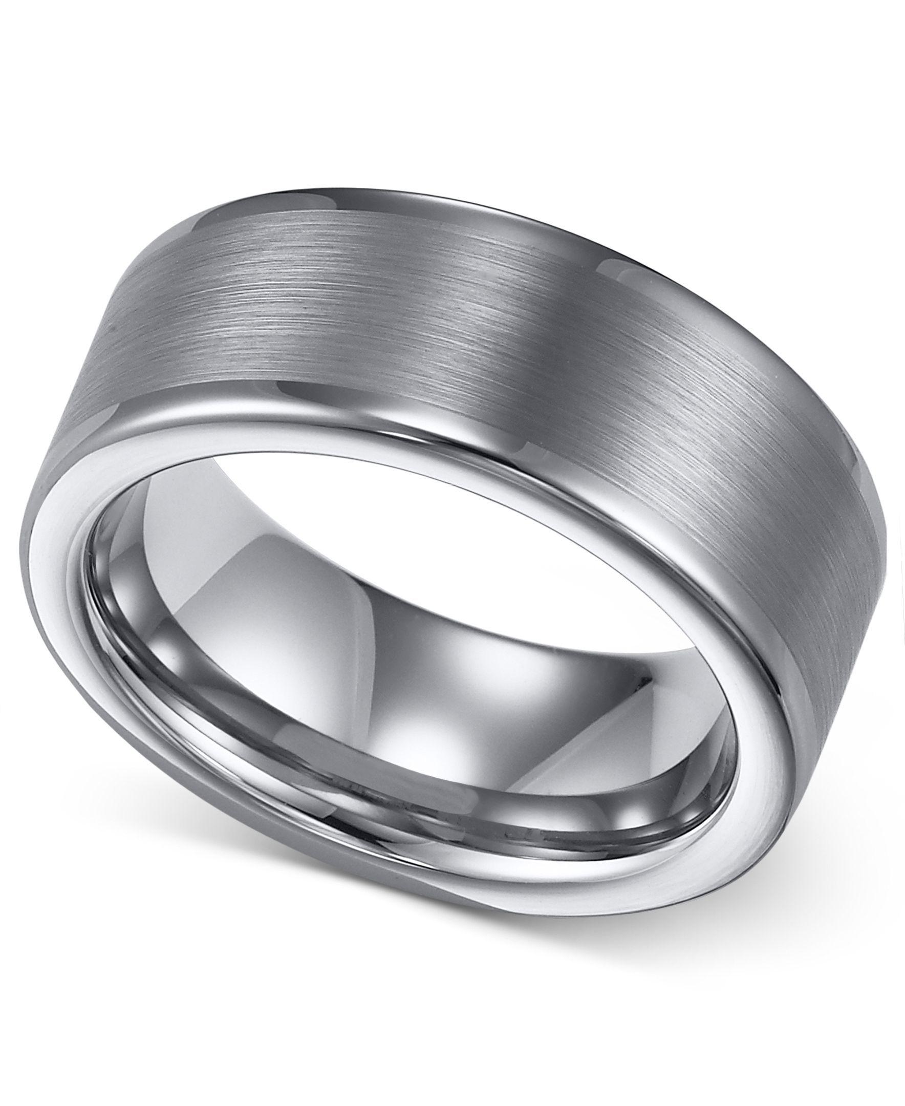 Triton Men's Tungsten Ring, 8mm Wedding Band & Reviews