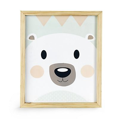 Oursy Cadre 33x27cm Pour Enfant Motif Ours Scandinave Kids Rugs Kids Room Baby Illustration