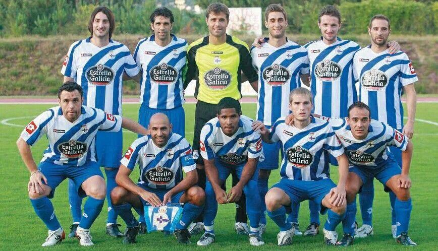 Temporada 2009/2010- De pie, de izda a decha: Colotto, Valerón, Aranzubia, Piscu, Mista, Pablo Álvarez. Agachados: Sergio, M.Pablo, Ángulo, Alex Bergantiños y Iván Pérez.