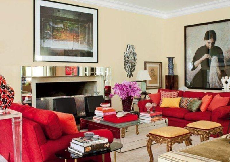 Helle und Glanz Ausgezeichnete Rot Wohnzimmer Dekor - Präsentiert - bilder wohnzimmer rot
