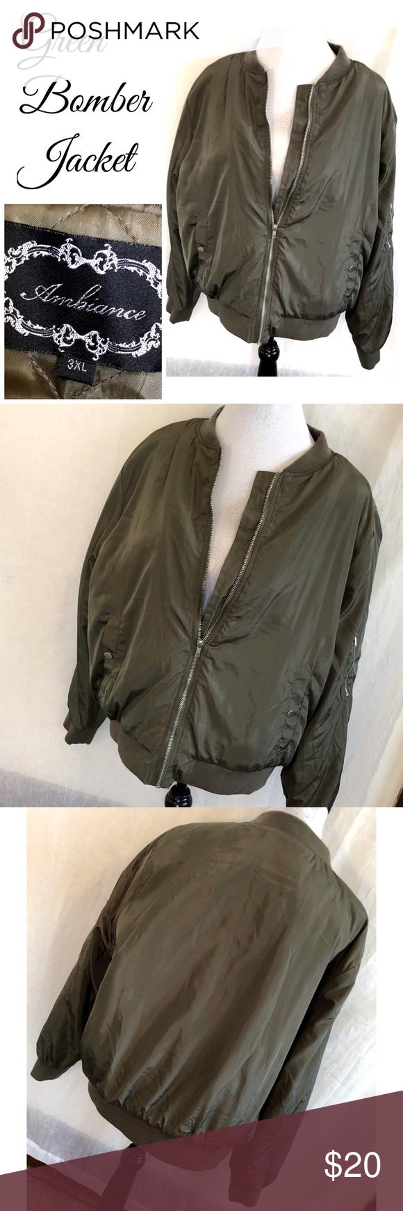 Juniors 3x Green Bomber Jacket Coat Quilted Juniors Plus Size 3x Army Green Color Bomber Jacket Ambiance Bran Bomber Jacket Green Bomber Jacket Clothes Design [ 1740 x 580 Pixel ]