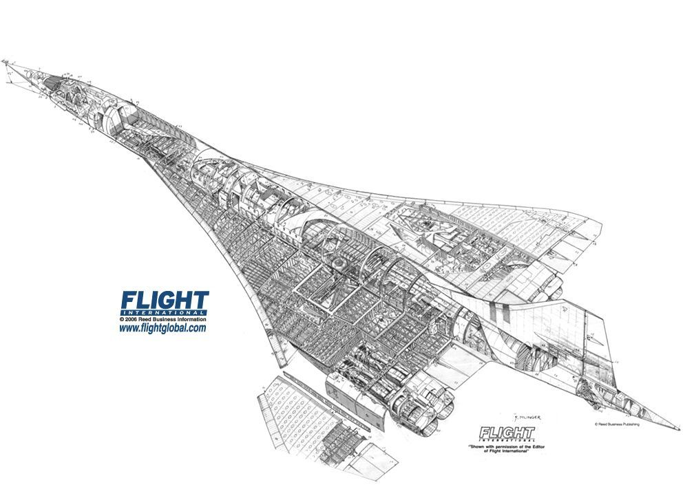 spaceship cutaway diagram wide area network visio concorde technical drawings - google search | pinterest concorde, and aircraft