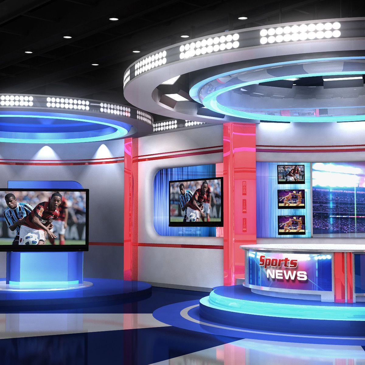 3d real time sports studio News studio, Virtual studio