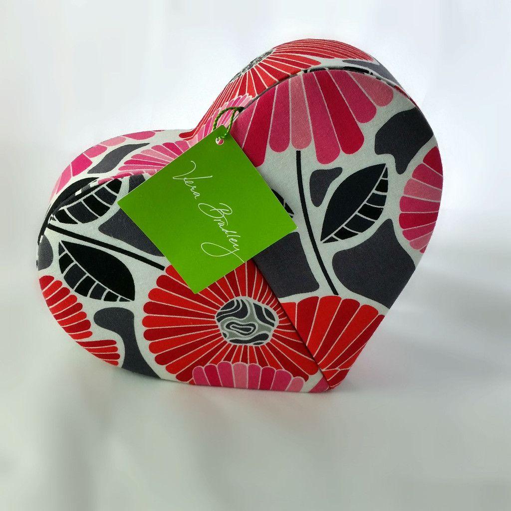 Vera Bradley Heart to Heart Jewelry Case Cheery Blossoms Box
