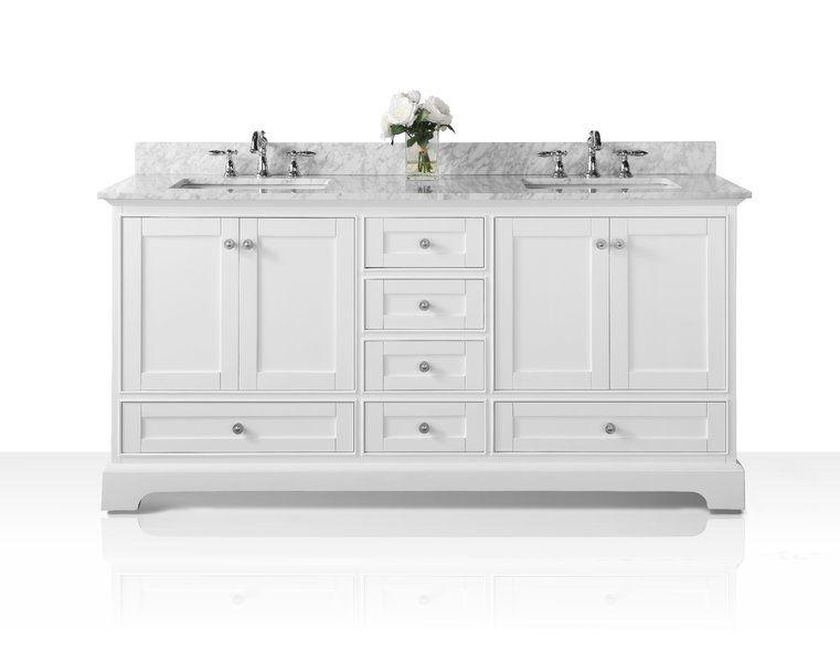 Longford 60 Double Bathroom Vanity Set Vanity Basin Marble