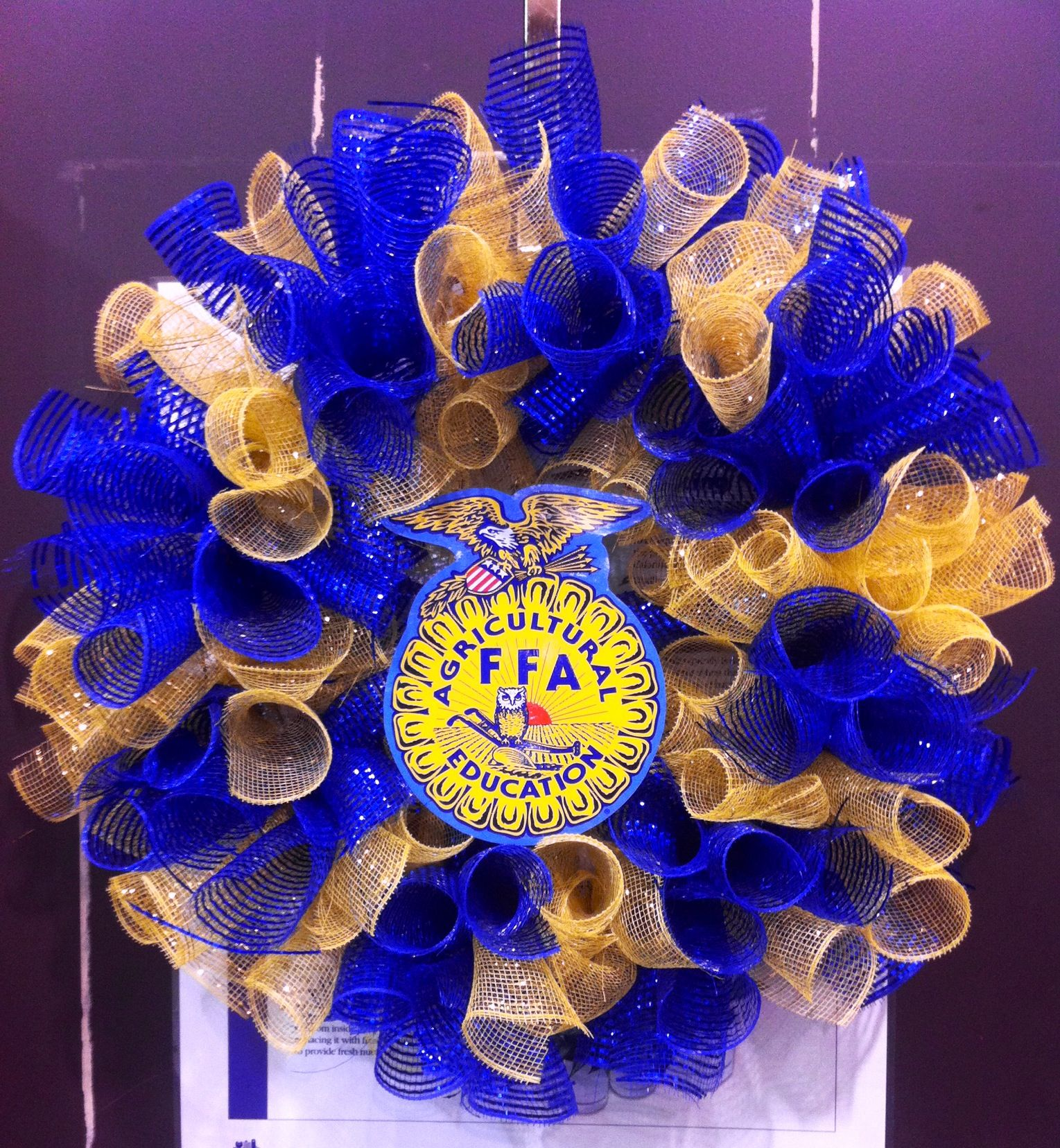 Ffa Wreath Great To Make For Any Ffa Lover As A Gift Or To Sell As A Fundraiser Ffa Fundraiser Crafts Ffa
