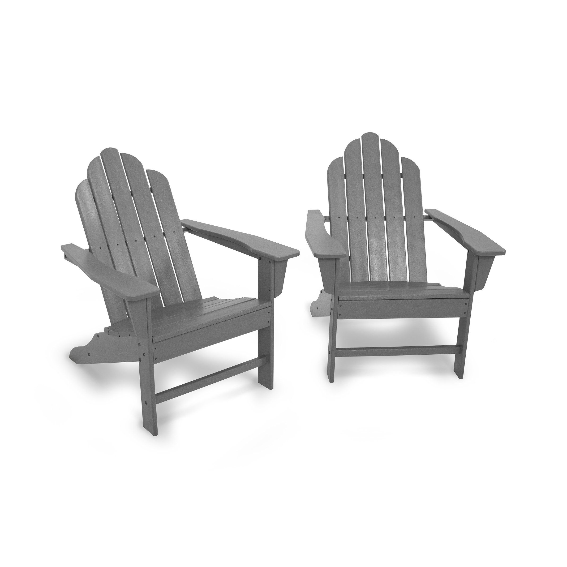 Long Island Adirondack 2 Piece Set Assembly Required Grey