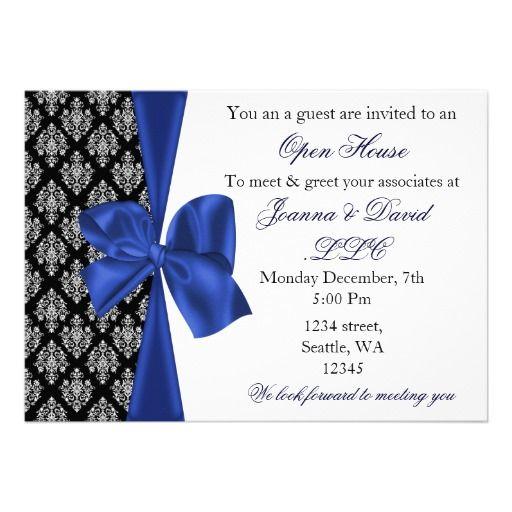 elegant stylish navy Corporate Invitation | Pinterest | Corporate ...