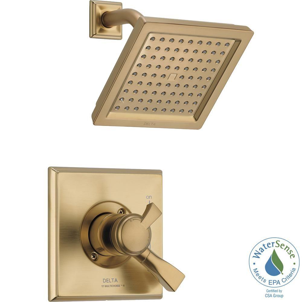 Delta Dryden 1 Handle Shower Faucet Trim Kit In Champagne Bronze