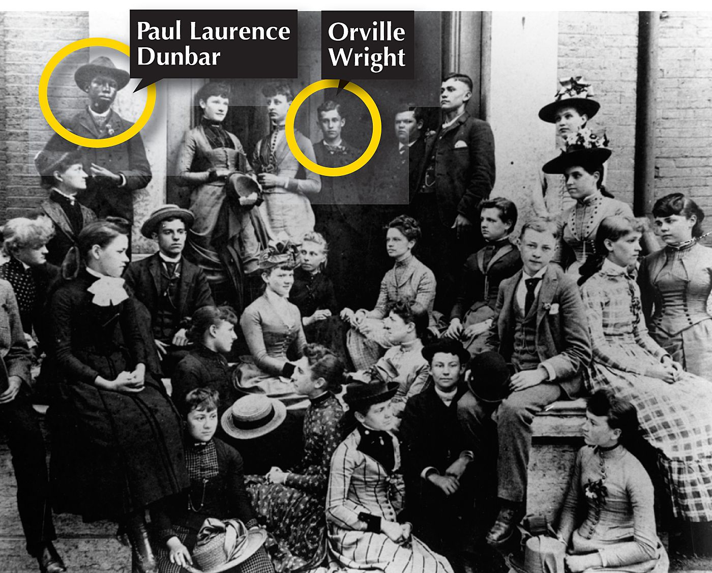 1890 Orville Wright And Paul Laurence Dunbar Are Classmates And Friends At Central High In Dayton Ohio Wright American High School Historical Figures Dunbar